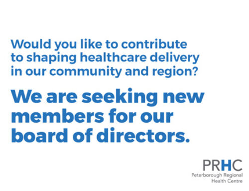 We are seeking new members for our board of directors